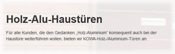 Holz Aluminium Haustüren in  Saarland