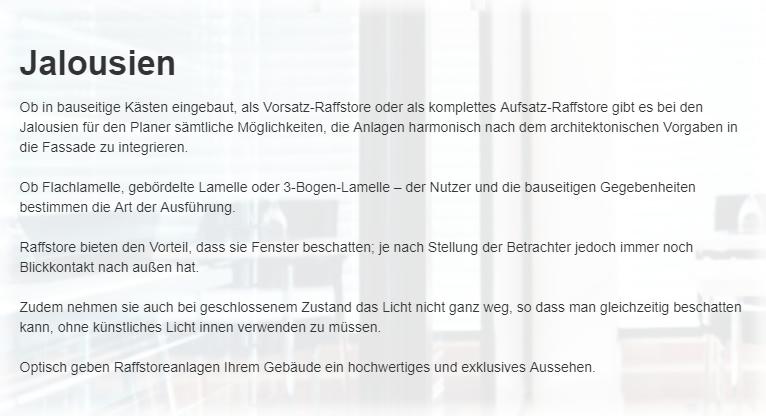 Raffstoreanlagen für 67752 Rutsweiler (Lauter)